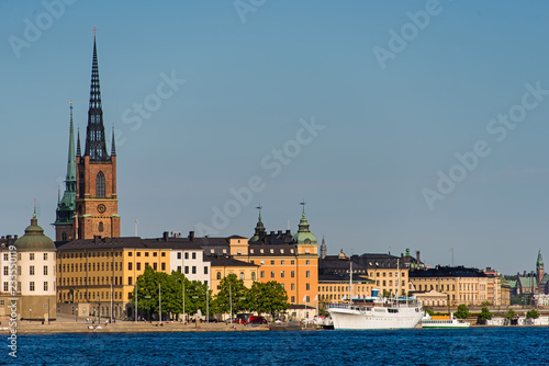 Foto Murales view of Old Town (Gamla Stan) in Stockholm, Sweden in a summer.
