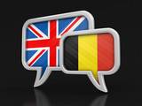 Speech bubbles with flags. Image with clipping path - 233554381