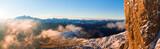 Beautiful Dolomites peaks panoramic view - 233565161
