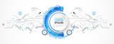 Vector illustration, Hi-tech digital technology and engineering theme