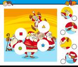 match pieces puzzle with Santa Claus - 233589727