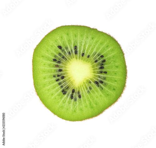 kiwi slices isolated on white background