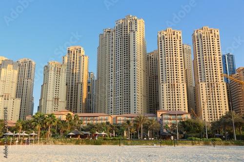 fototapeta na ścianę Dubai hotels skyline