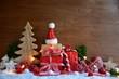 Leinwanddruck Bild - Weihnachtskarte - Grußkarte - Geschenke liebevoll verpackt