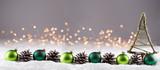 Weihnachten  -  Winterlandschaft mit Dekoration
