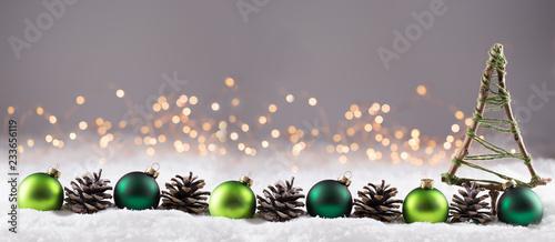 fototapeta na ścianę Weihnachten - Winterlandschaft mit Dekoration