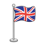 United Kingdom flag vector isolated. Great Britain Union Jack. - 233658974