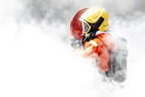 Firefighter in the midst of fire and smoke. - 233677352
