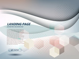 website landing page abstract background