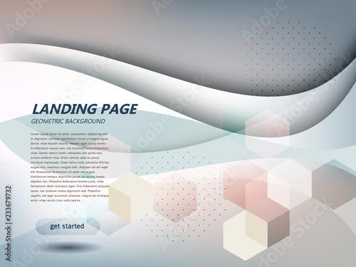 Strona internetowa landing page streszczenie tle