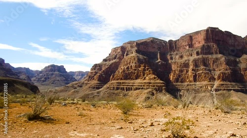 landscape and nature concept - view of grand canyon cliffs