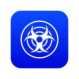 Sign of biological threat icon digital blue for any design isolated on white vector illustration - 233760700