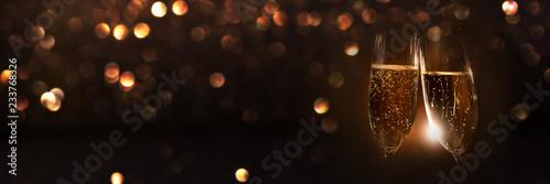 Leinwandbild Motiv Champagne in the night of new year