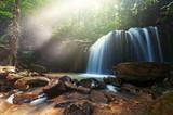 Waterfall in Kota Kinabalu Sabah Borneo, long exposure