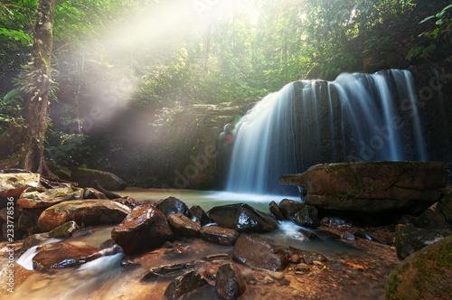 Waterfall in Kota Kinabalu Sabah Borneo, long exposure - 233778536