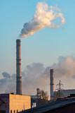 smoking chimneys of old plants - 233791174