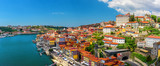 Porto, Portugal panoramic view of old town Oporto from Dom Luis bridge on the Douro Rive
