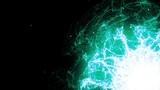 Glowing green plasma bursts with energy (Loop). - 233821998