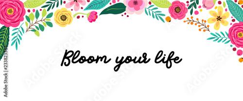 Cute Spring Flowers Horizontal Banner Buy Photos Ap Images