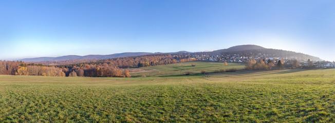 rural landscape in the Taunus region in morning light © travelview