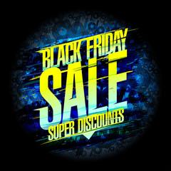 Black friday sale poster design concept