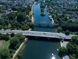 Aerial View of historical Bridge