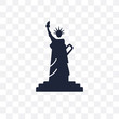 Statue of liberty transparent icon. Statue of liberty symbol design from United states of america collection.