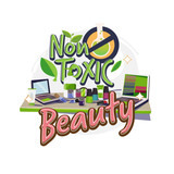 non-toxic cosmetic on table. non toxic beauty product with typographic - vector - 233867935