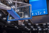 Basketball hoop in a professional basketball arena. - 233869555