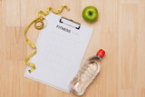 Workout and fitness dieting,Planning control diet concept.