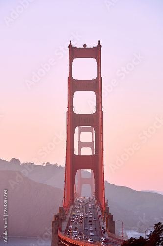 Golden Gate Bridge at sunset, San Francisco, California - 233897794