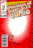 Editable comic book cover with abstract background. - 233904376