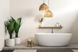 White bathroom, white tub