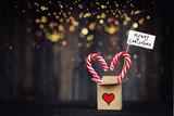 merry christmas - christmas gift box on festive background - 233947398
