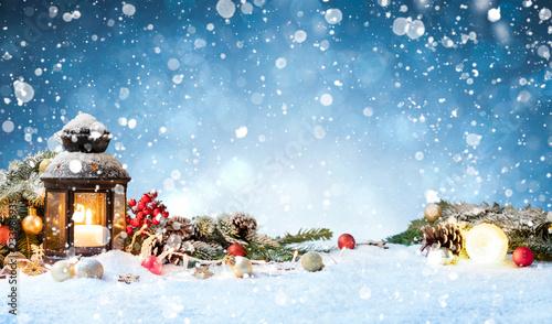 Leinwandbild Motiv Christmas background concept.