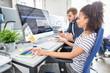 Leinwanddruck Bild - Website design. Developing programming and coding technologies.