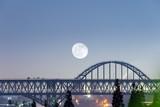 bridge closeup with moon © chungking