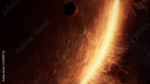 3D Illustration of an alien planet with amazing atmosphere © Pinhead Studio