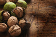 Leinwandbild Motiv Noci Orzechy Fruit à coque Nussfrucht مكسرات ft81092923 Walnut Nut Noce fruit