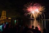 Fuochi d'artificio, Lago Maggiore, Verbania, Italia - 234021529