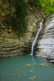 Waterfall in the Caucasus