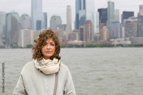 Foto Murales Donna con SkyLine New York