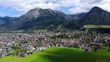 Aerial view of the town of Oberstorf and the Allgau - 234063984