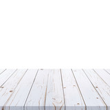 white wood table paint on isolate white background. - 234069767