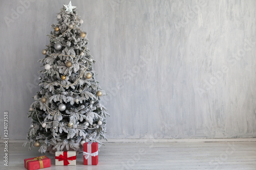 Foto Murales Christmas Interior home decor gifts new year tree