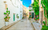 Scenic view of the street in Monopoli, Bari Province, Apulia, southern Italy. - 234081327