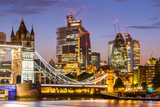 London Tower Bridge with Downtown building © vichie81