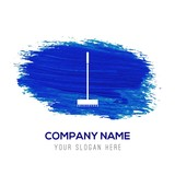Broom Icon - Blue watercolor background - 234199958