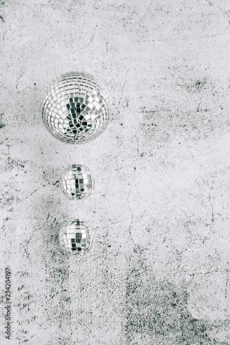 Silver Mirrored Disco Ball Christmas Ornaments - 234204197