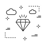 vector diamond icon in creative design with elements for mobile and web applictions. modern trend infographic,logo and pictogram.